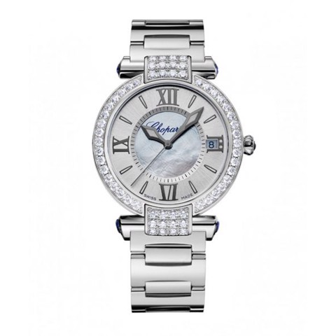 Chopard Imperiale Automatic Diamond White Gold Bracelet MOP Dial 36mm