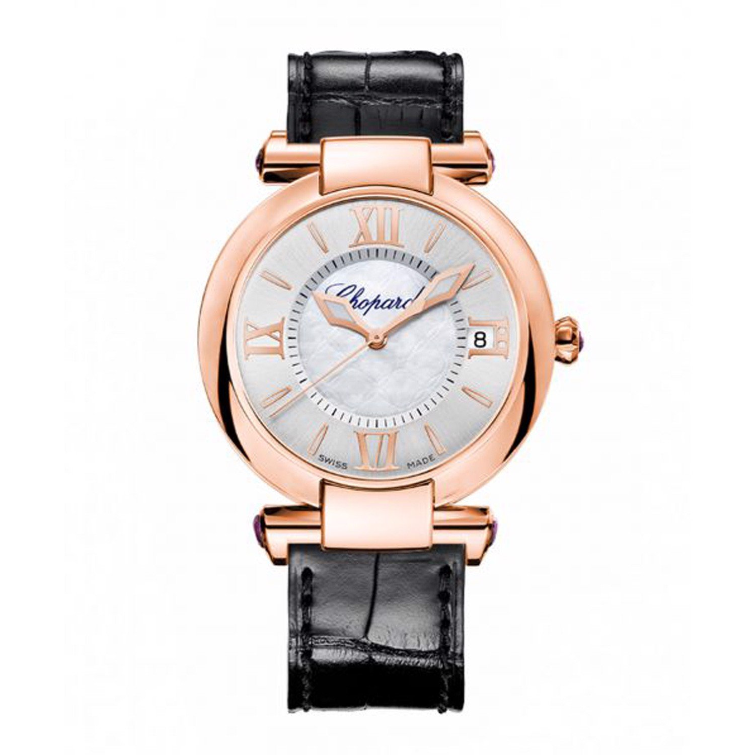 Chopard Imperiale Automatic Rose Gold Black Leather Strap 36mm