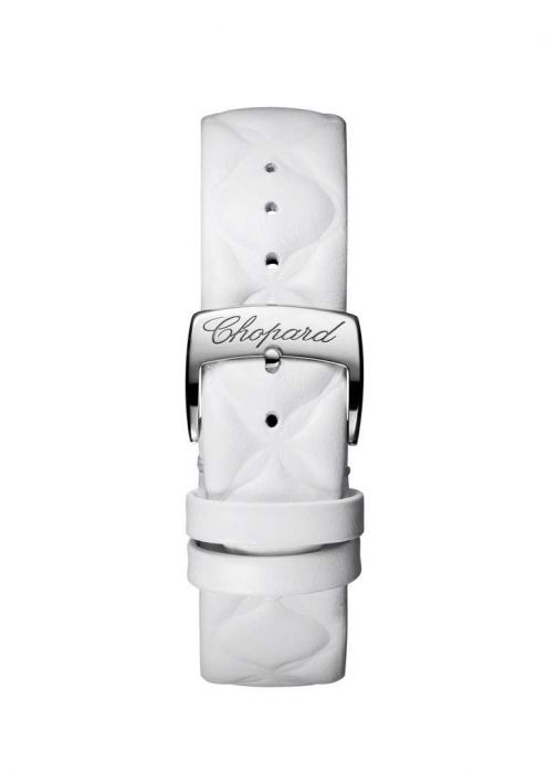 Chopard Imperiale Automatic Diamond Steel White Leather Strap White Dial 40mm