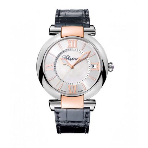 Chopard Imperiale Automatic Rose Gold - Steel Black Leather Strap 40mm