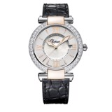 Chopard Imperiale Quartz Diamond Rose Gold - Steel Black Leather Strap 36mm