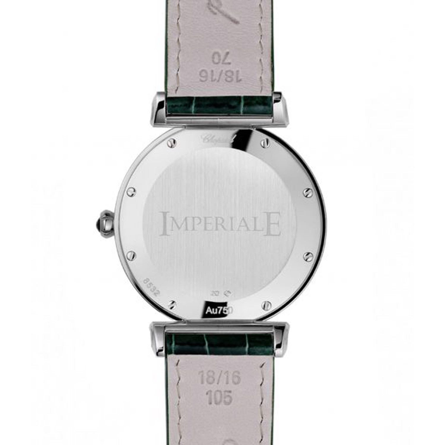 Chopard Imperiale Quartz Diamond Rose Gold - Steel Green Leather Strap 36mm