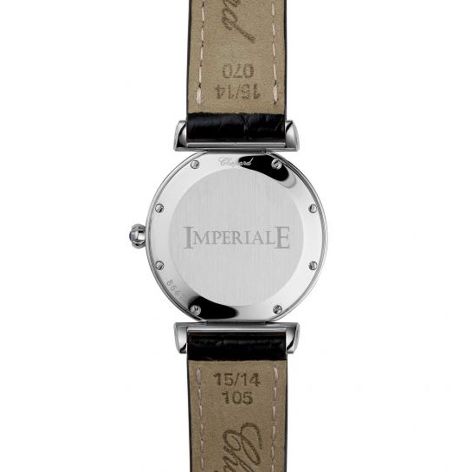 Chopard Imperiale Quartz Rose Gold - Steel Black Leather Strap 28mm