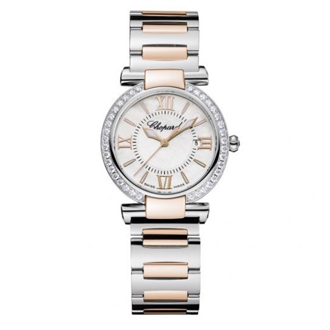 Chopard Imperiale Quartz Diamond Rose Gold - Steel Bracelet 28mm