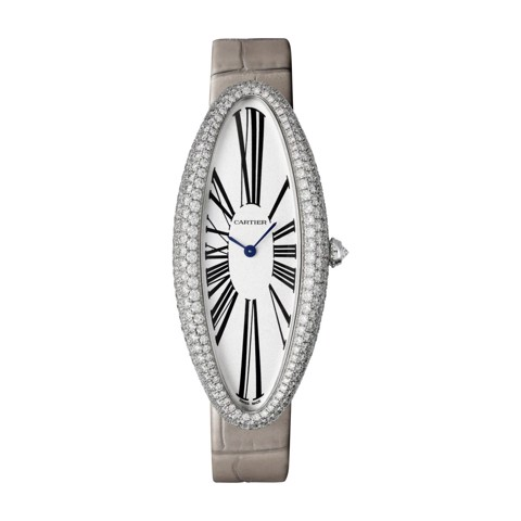 Cartier Baignoire Allongée XL White Gold Diamonds Leather