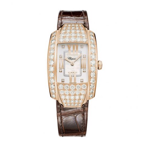 Chopard La Strada Full Diamond Rose Gold 45x26mm