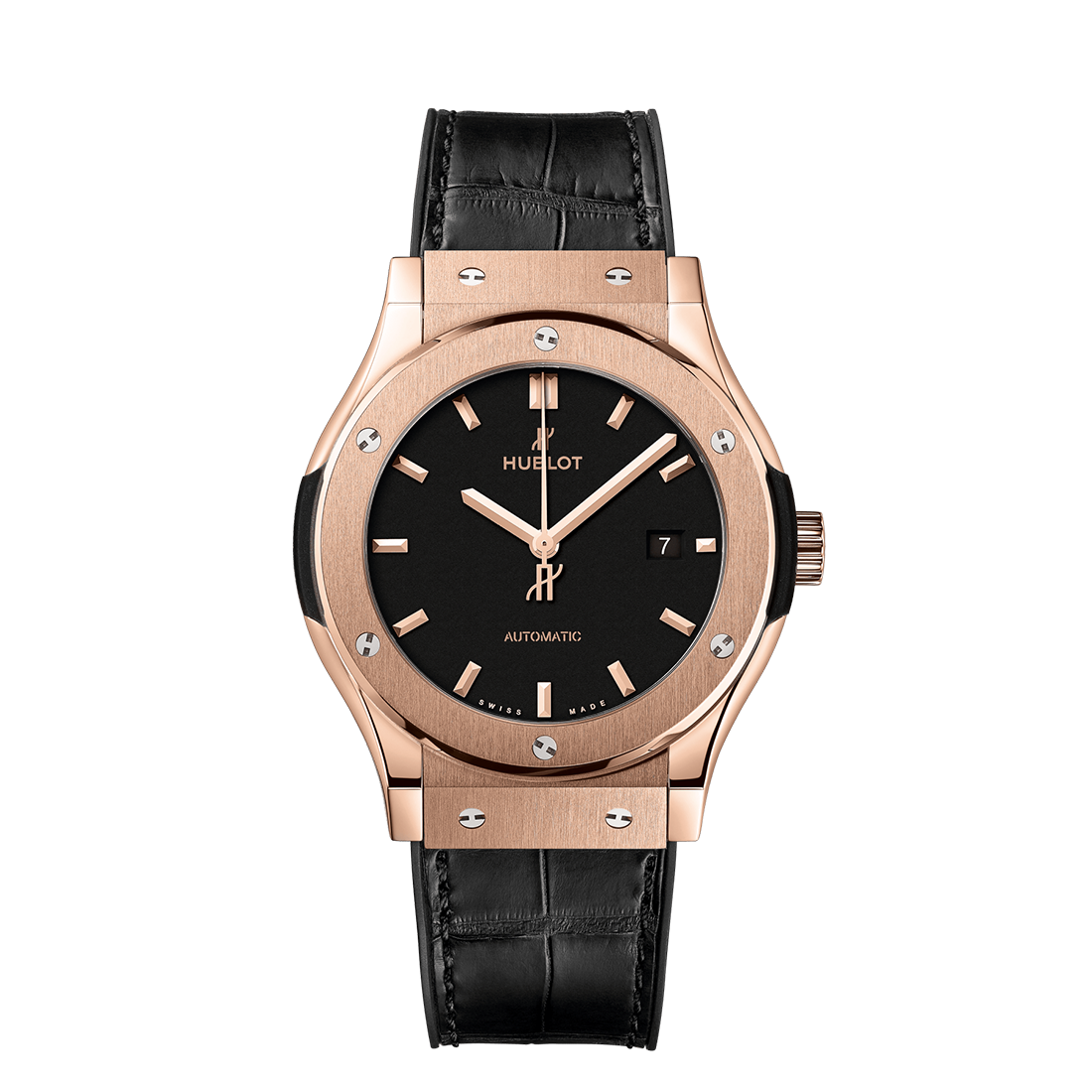 Hublot Classic Fusion Black King Gold Leather Strap