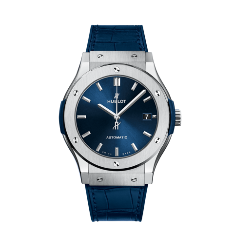 Hublot Classic Fusion Blue Titanium Leather Strap