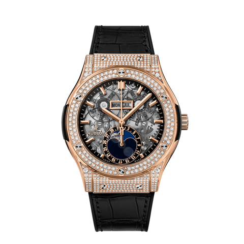 Hublot Classic Fusion Aerofusion Moonphase King Gold Pavé