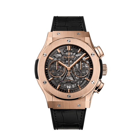 Hublot Classic Fusion Aerofusion King Gold Skeleton Chronograph