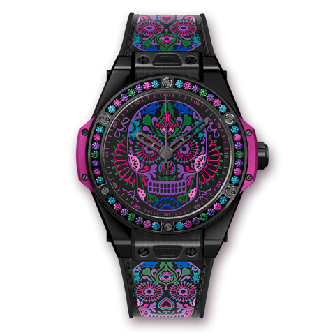 Hublot Big Bang One Click Calavera Catrina Black Ceramic 39mm