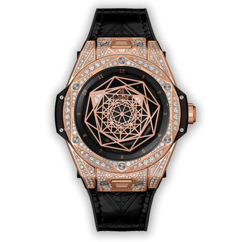 Hublot Big Bang Sang Bleu King Gold Pavé 39mm