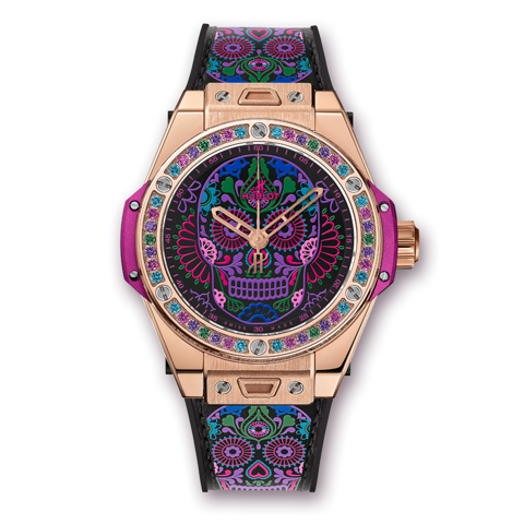 Hublot Big Bang One Click Calavera Catrina King Gold 39mm