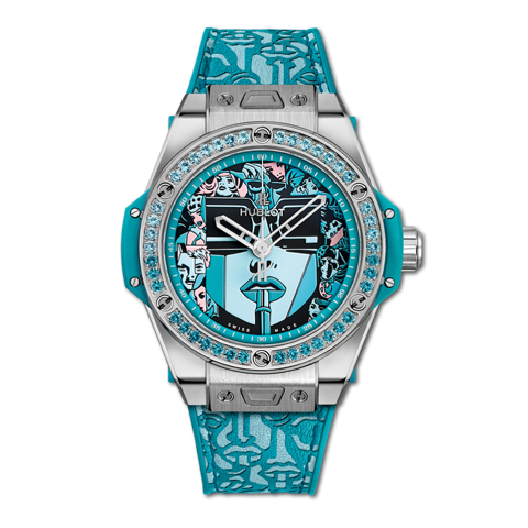 Hublot Big Bang One Click Marc Ferrero Steel Turquoise 39mm