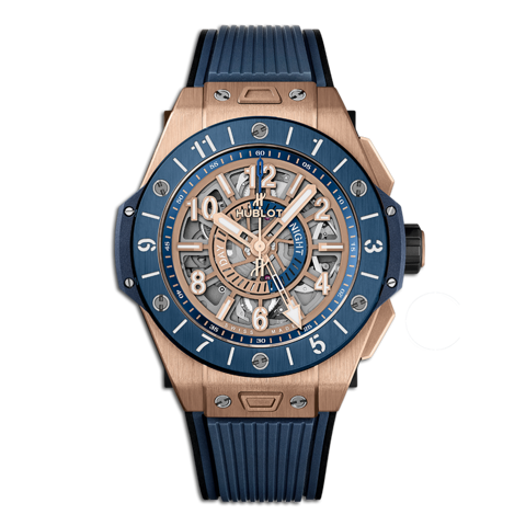 Hublot Big Bang Unico Gmt King Gold Blue Ceramic 45mm