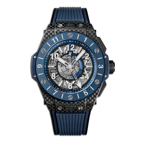 Hublot Big Bang Unico Gmt Carbon Blue Ceramic 45mm