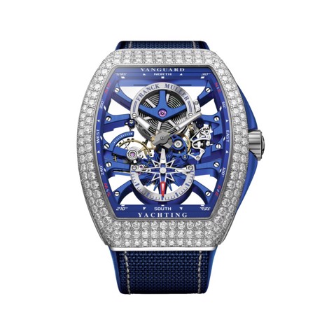 Franck Muller Vanguard Yachting Anchor Skeleton Classic V 45 S6 SQT ANCRE YACHT D (BL)
