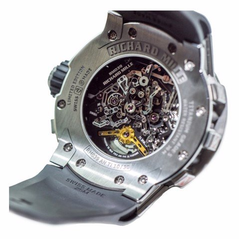 Richard Mille Men Watch RM 039 Manual Winding Tourbillon Chronograph Aviation