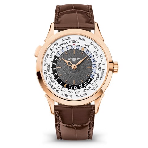 Patek Philippe World Time 18k Rose Gold Watch 38.5mm