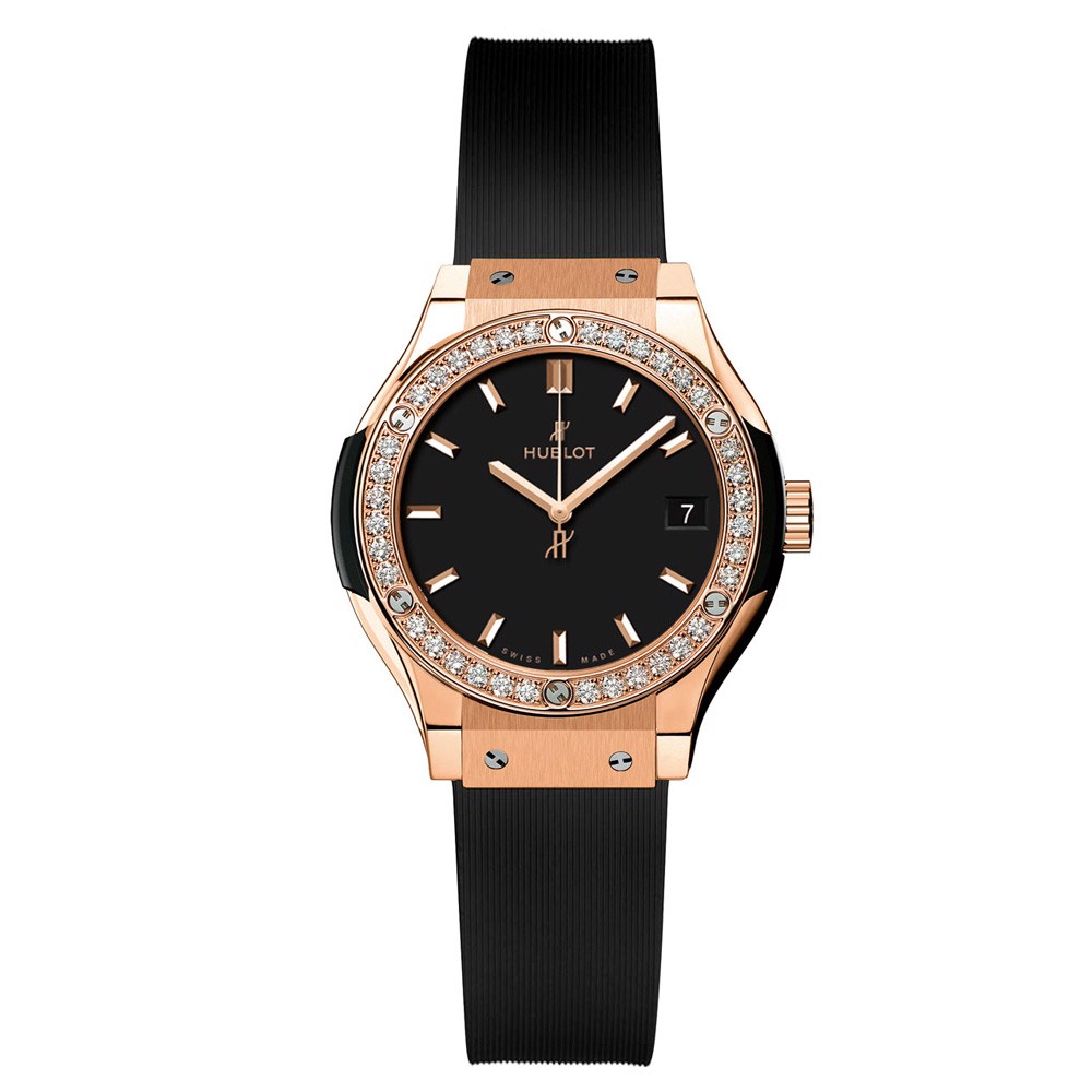Hublot Classic Fusion Quartz Rose Gold Diamonds 33mm
