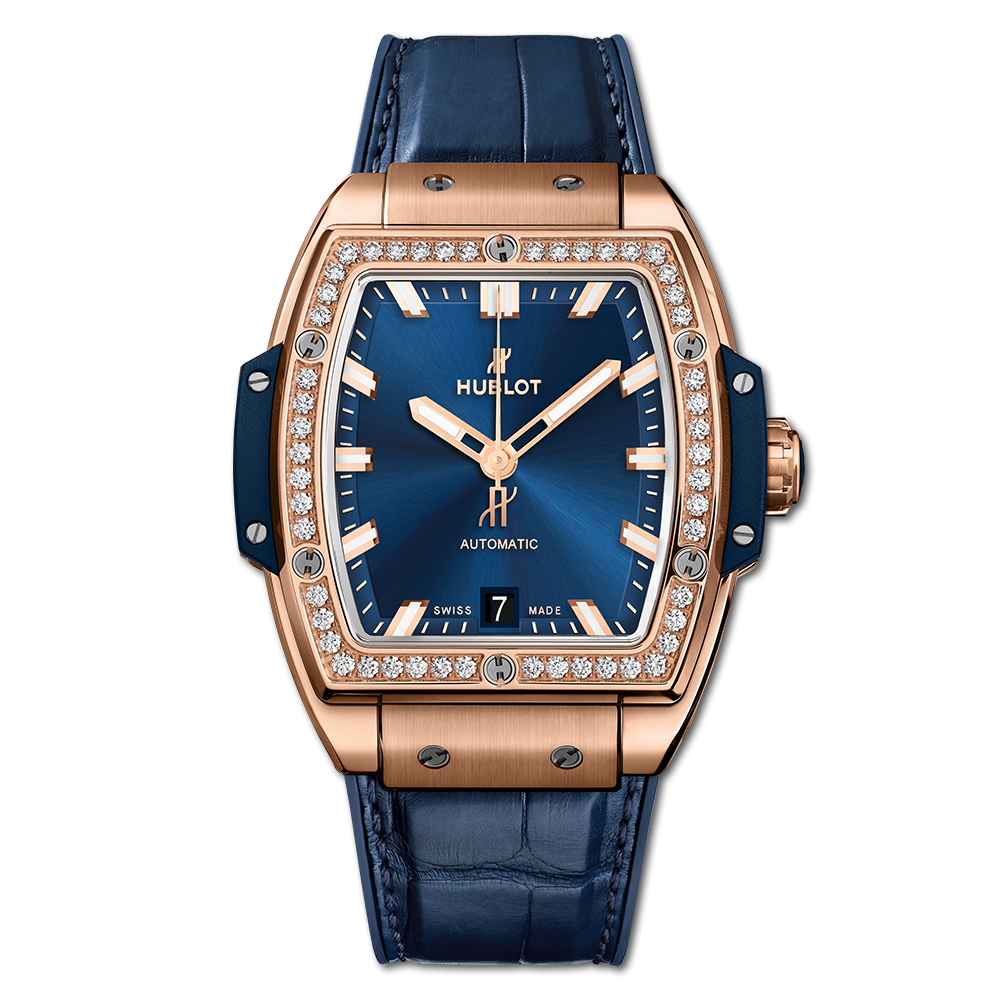 Hublot Spirit Of Big Bang King Gold BLue Diamonds