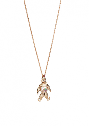 Chopard Happy Clown Pendant Rose Gold Diamond Ruby - Emerald