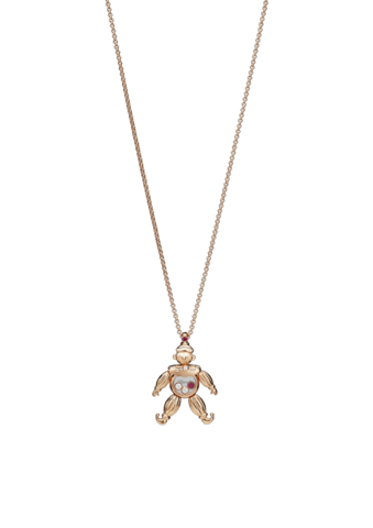Chopard Happy Clown Pendant Rose Gold Diamond - Ruby