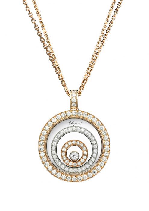 Chopard Happy Spirit Pendant Rose - White Gold and Diamond