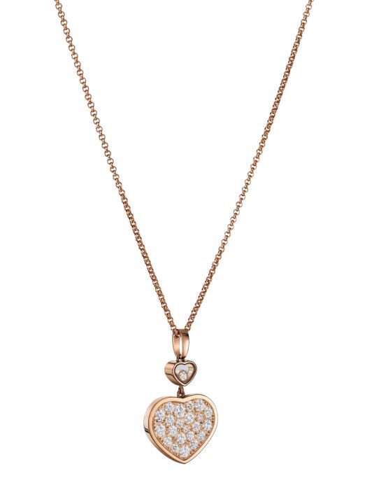 Chopard Happy Hearts Pendant Rose Gold Diamond