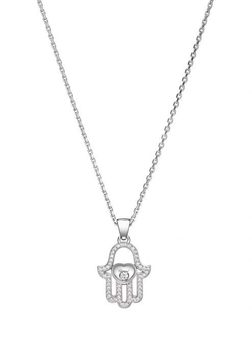 Chopard Luck Charms Pendant White Gold and Diamond