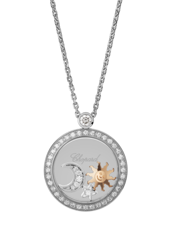 Chopard Diamonds Pendant White-Rose Gold and Diamond