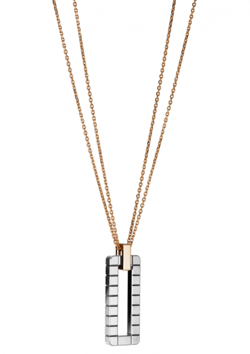 Chopard Ice Cube Pendant Rose Gold - White Gold