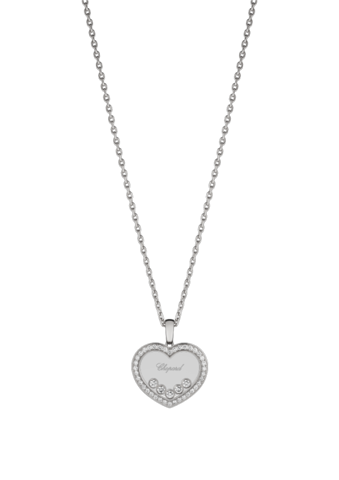 Chopard Happy Diamonds Icons Heart Pendant White Gold - Diamond