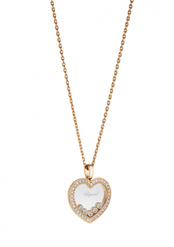 Chopard Happy Diamonds Icons Heart Pendant Rose Gold - Diamond