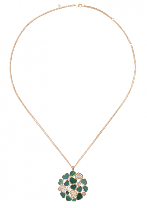 Chopard Happy Hearts Pendant Rose Gold Diamond - Malachite