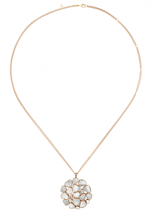 Chopard Happy Hearts Pendant Rose Gold Diamond - MOP