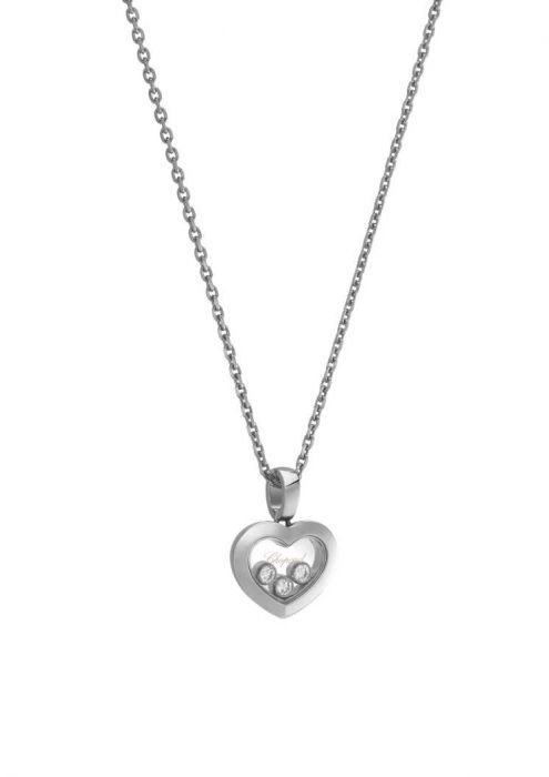 Chopard Happy Diamonds Icons Pendant White Gold - Diamond