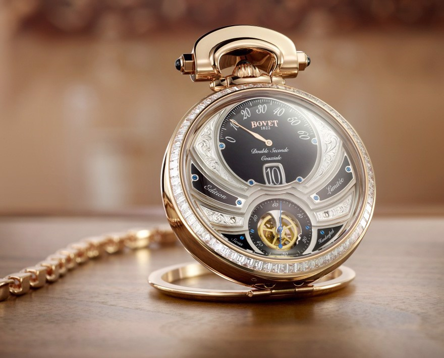 Bovet Fleurier Complications Virtuoso V Rose Gold Black Dial Diamonds