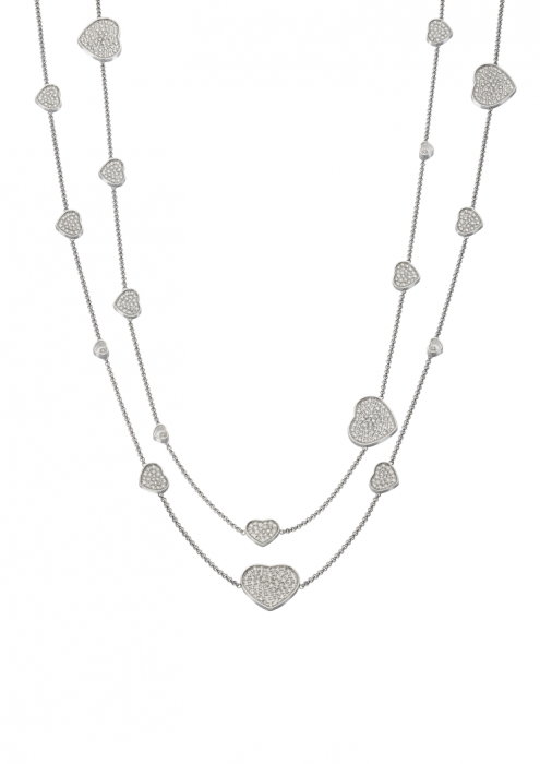Chopard Happy Hearts Sautoir Necklace White Gold - Diamond