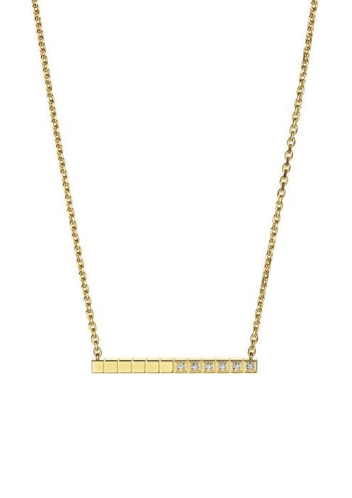 Chopard Ice Cube Pure Necklace Yellow Gold - Diamond