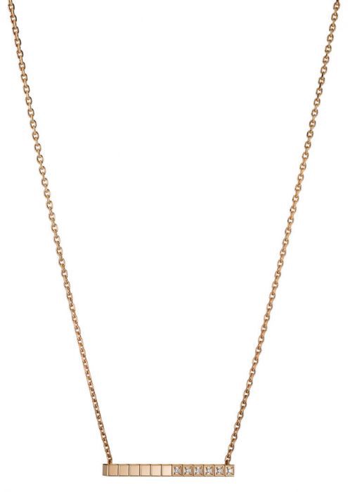 Chopard Ice Cube Pure Necklace Rose Gold - Diamond