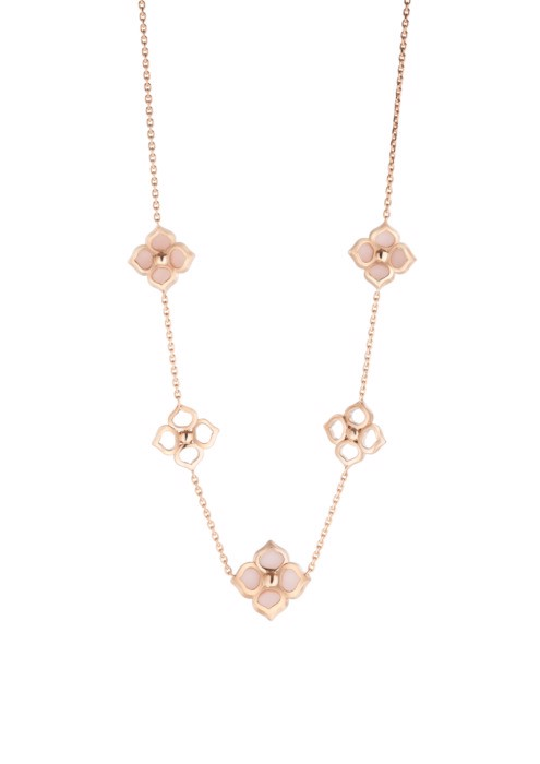 Chopard La Fleur Imperiale Necklace Rose Gold, Diamond and Pink Opal