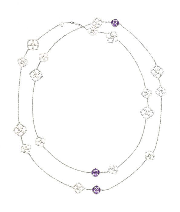 Chopard Imperiale Cocktail Sautoir Necklace White Gold Amethyst
