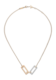 Chopard Ice Cube Necklace Rose Gold - White Gold