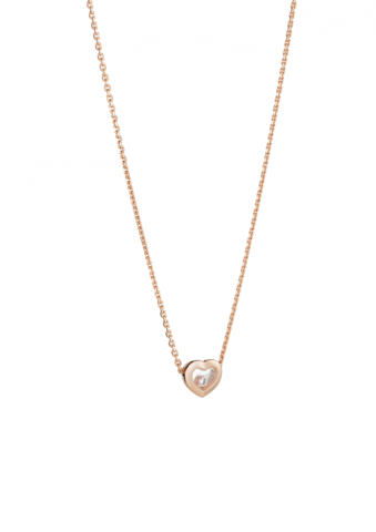 Chopard Happy Diamonds Icons Necklace Rose Gold - Diamond