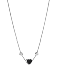 Chopard Happy Hearts Necklace White Gold Diamond - Black Onyx