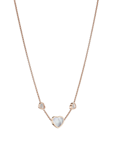 Chopard Happy Hearts Necklace Rose Gold Diamond - MOP