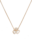 Chopard Happy Hearts Wings Necklace Rose Gold Diamond - MOP