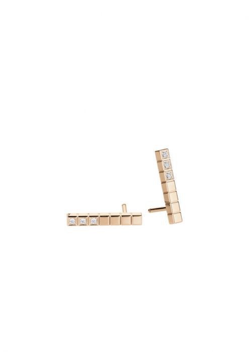 Chopard Ice Cube Pure Earrings Rose Gold - Diamond