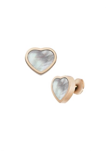 Chopard Happy Hearts Earrings Rose Gold - MOP